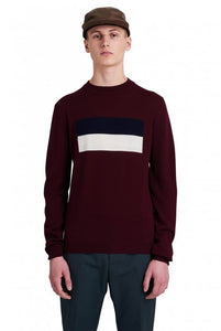 Wood Wood Leon Merino Wool sweater - Burgundy