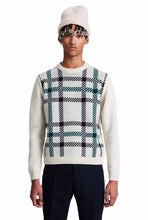 Load image into Gallery viewer, Wood Wood Latimer Lambswool sweater  -  offwhite/green
