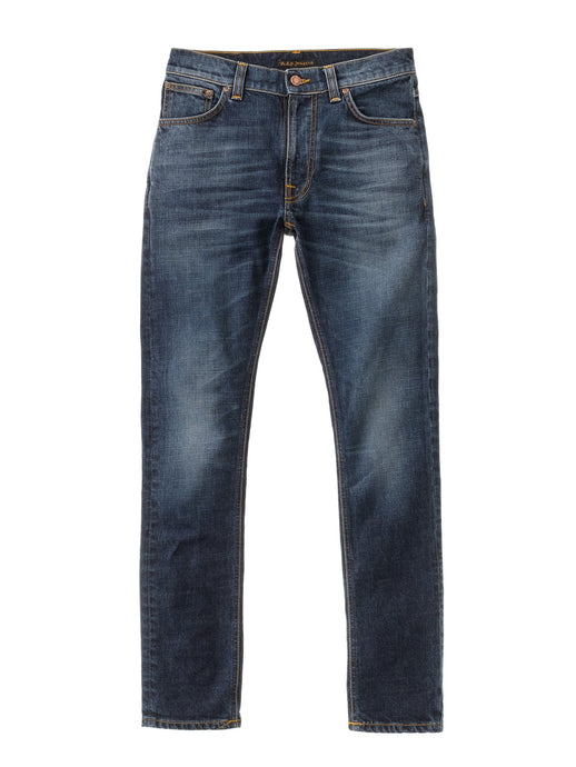NUDIE JEANS Lean Dean Slim Tapered Dark Worn Navy