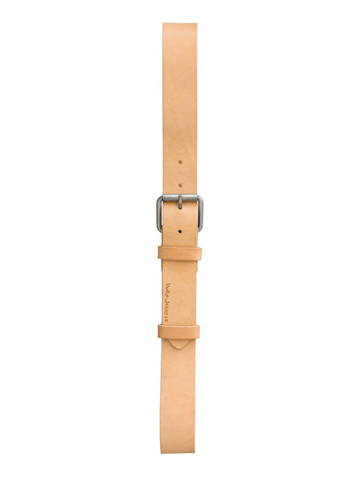 NUDIE JEANS Pedersson LEATHER BELT- Natural