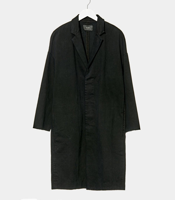 NEUW Relaxed denim coat - Black Indigo
