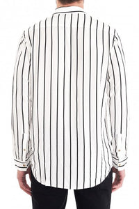 Neuw Stripe LS Shirt - White