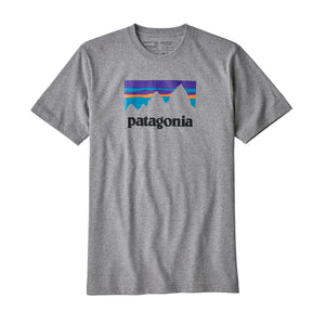 Patagonia Men's Shop Sticker Responsibili-Tee - Gravel Heather