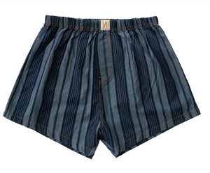 NUDIE JEANS Chambray Boxers - Bolster stripe