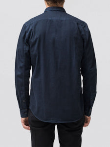 NUDIE JEANS Henry Pigment dyed shirt- Navy