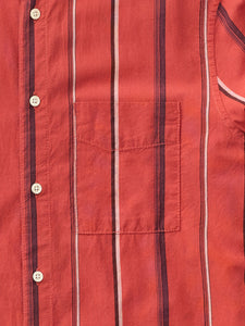 NUDIE JEANS Madras Stripe shirt -Aurora Red