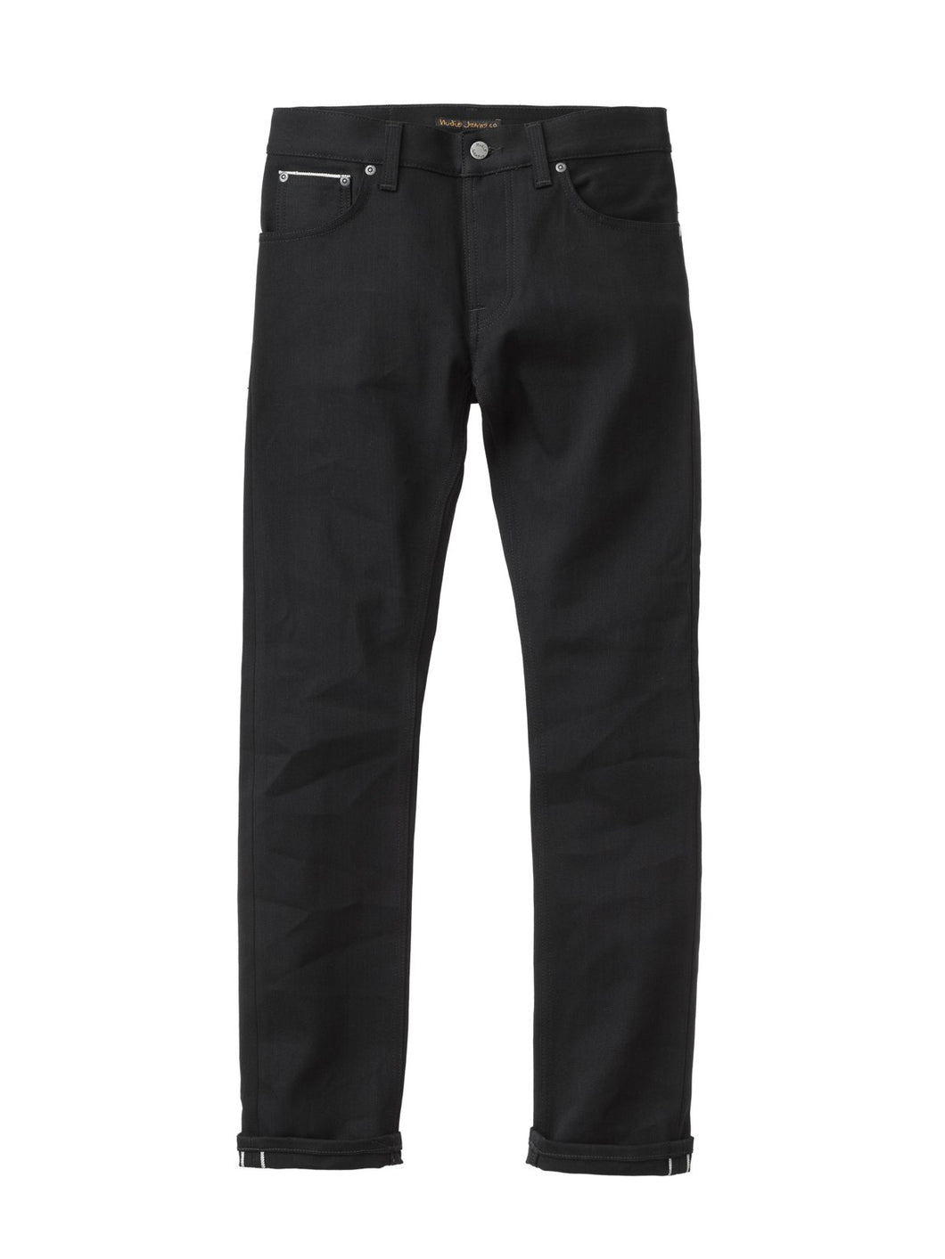 NUDIE JEANS Grim Tim Slim Straight Black Selvedge