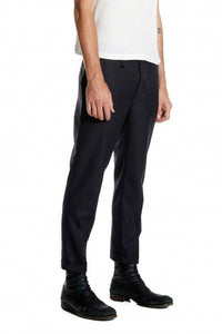 NEUW RUDE BOY  REGULAR TAPERED CROP TROUSERS CHARCOAL