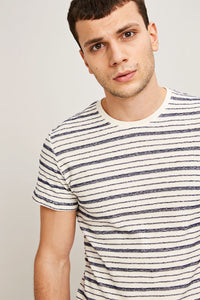 Samsøe & Samsøe Playa o-n ss Tee - Clear Cream Stripe
