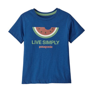 Patagonia Baby Live Simply® Organic Cotton T-Shirt - Superior Blue
