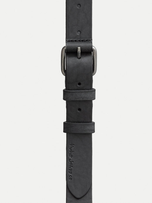 NUDIE JEANS Dwayne LEATHER BELT- Black