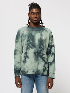 NUDIE JEANS Lukas Circle Tie Dye - Pale Green