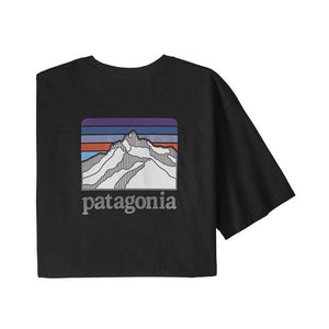 Patagonia Men's Line Logo Ridge Pocket Responsibili-Tee - Black