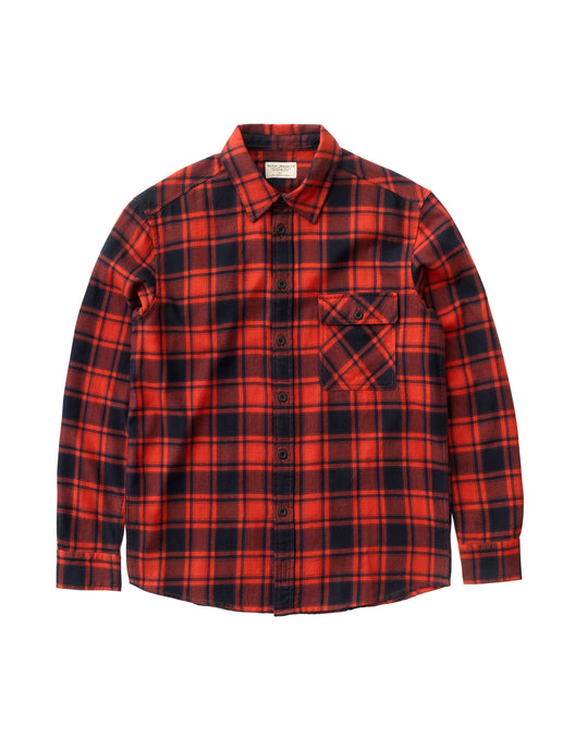 NUDIE JEANS  Sten Flannel Check - Red Alert
