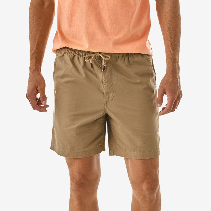 Men's Lightweight All-Wear Hemp Volley Shorts - Mojave Khaki
