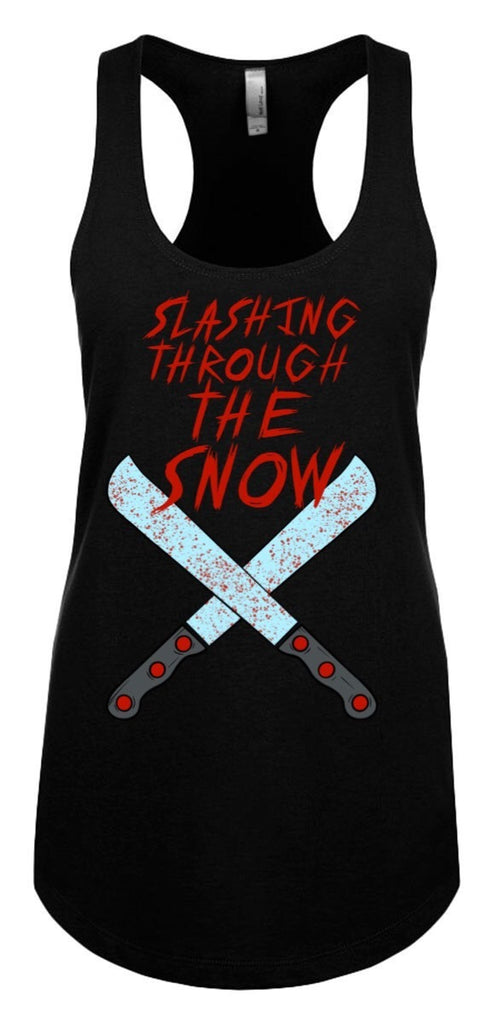 Slashing Through the Snow tank top