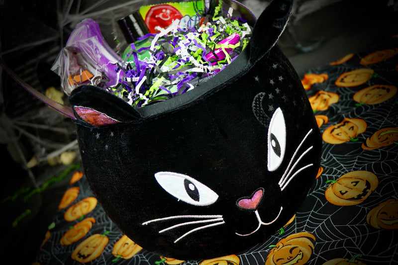 Purple/Black Cat Plush