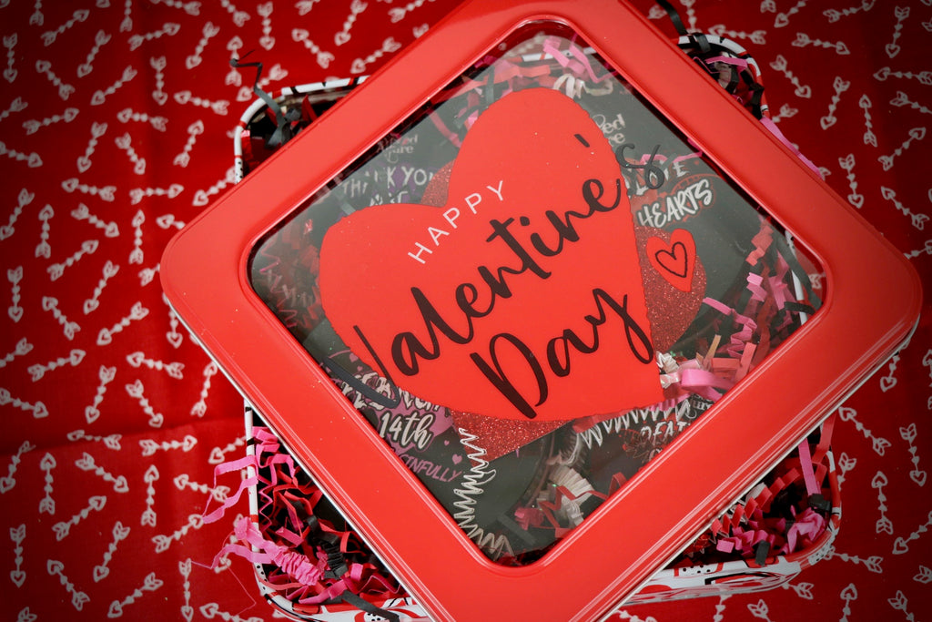 Valentines Square Tin
