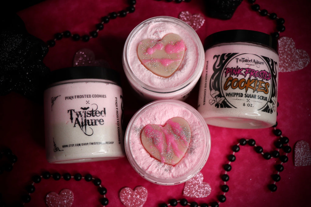 Pink Frosted Cookies Whipped Sugar Scrub