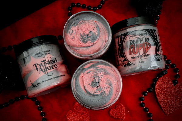 Death By Cupid Whipped Soap