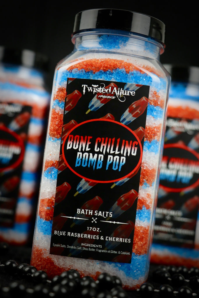 Bone Chilling Bomb Pop Bath Salts