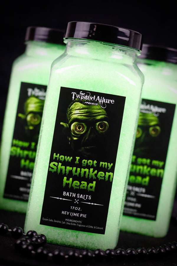 How I got my Shrunken Head Bath Salts