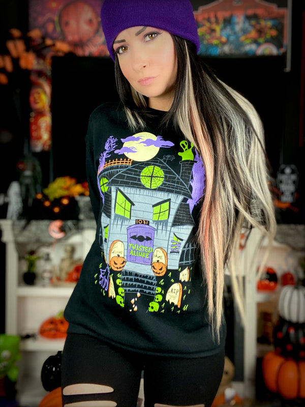 Haunted House Crewneck Sweatshirt