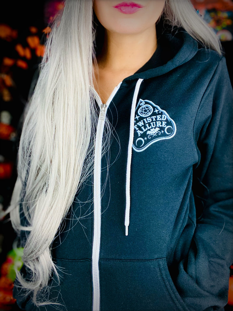 Black and white Planchette Hoodie