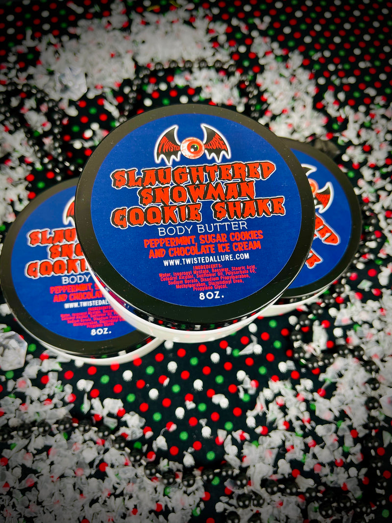 Slaughtered Snowman Cookie Shake Body Butter 8oz