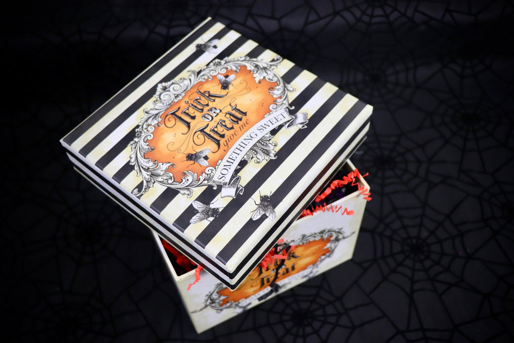 Orange Striped  Trick Or Treat Medium Box