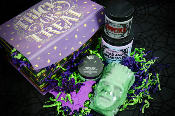 Trick Or Treat Medium Purple & Green Box