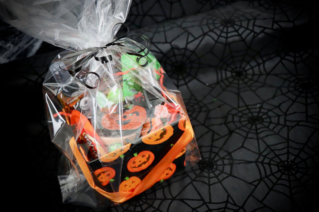Orange Pumpkin Square Basket