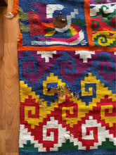 Load image into Gallery viewer, Vintage Colorful Handwoven Incan Peruvian Boho Chic Bohemian Area Rug