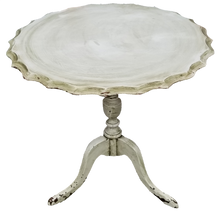 Load image into Gallery viewer, Vintage Mint Green Shabby Farmhouse Chic Primitive Chippy Paint Tilt-Top Side Table