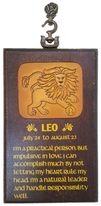 Leo Horoscope Zodiac Sign Wall Hanging Plaque