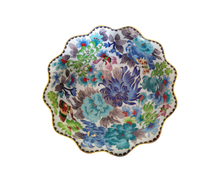 Load image into Gallery viewer, Vintage Blue Flower with White Background Floral Decorative Cloisonne Bowl