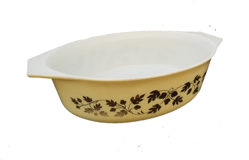 Pyrex Golden Acorn Baking Dish #045