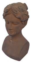 Load image into Gallery viewer, Terra Cotta Greek Revival Woman Bust
