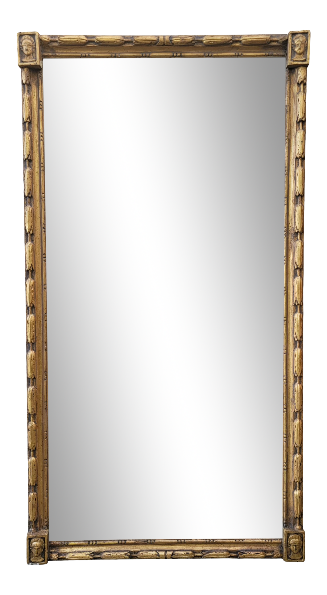 Vintage Neoclassical Gold Framed Wall or Full Length Mirror