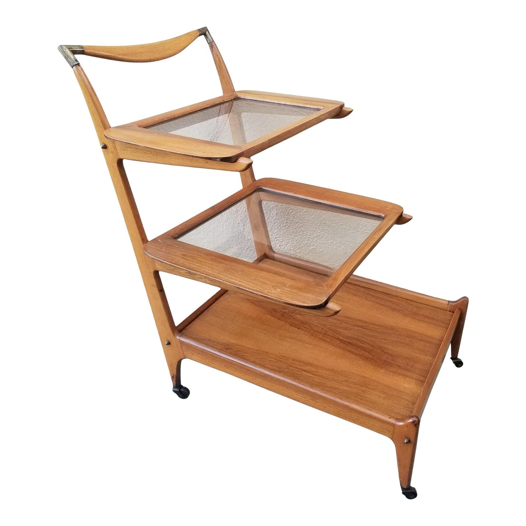 1960s Mid-Century Modern Cesare Lacca for Casina 3-Tiered Bar Cart