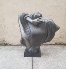 "Load image into Gallery viewer, Vintage 80s Does Deco Lady Bust Sculpture ""The Model"" by A. Daniel"