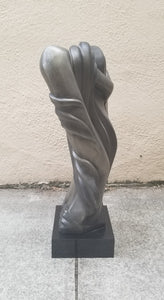 "Vintage 80s Does Deco Lady Bust Sculpture ""The Model"" by A. Daniel"