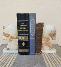 Load image into Gallery viewer, Vintage Stone Marble Onyx Agate Granite Horse Head Bookends