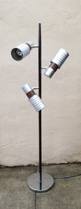 Mid-Century Modern Vintage Industrial 3 Light Can Light Floor Lamp