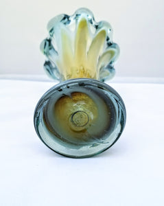 Yellow Blown Glass Vase
