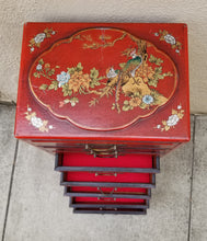 Load image into Gallery viewer, Antique Reproduction Red Chinese Jewelry Box