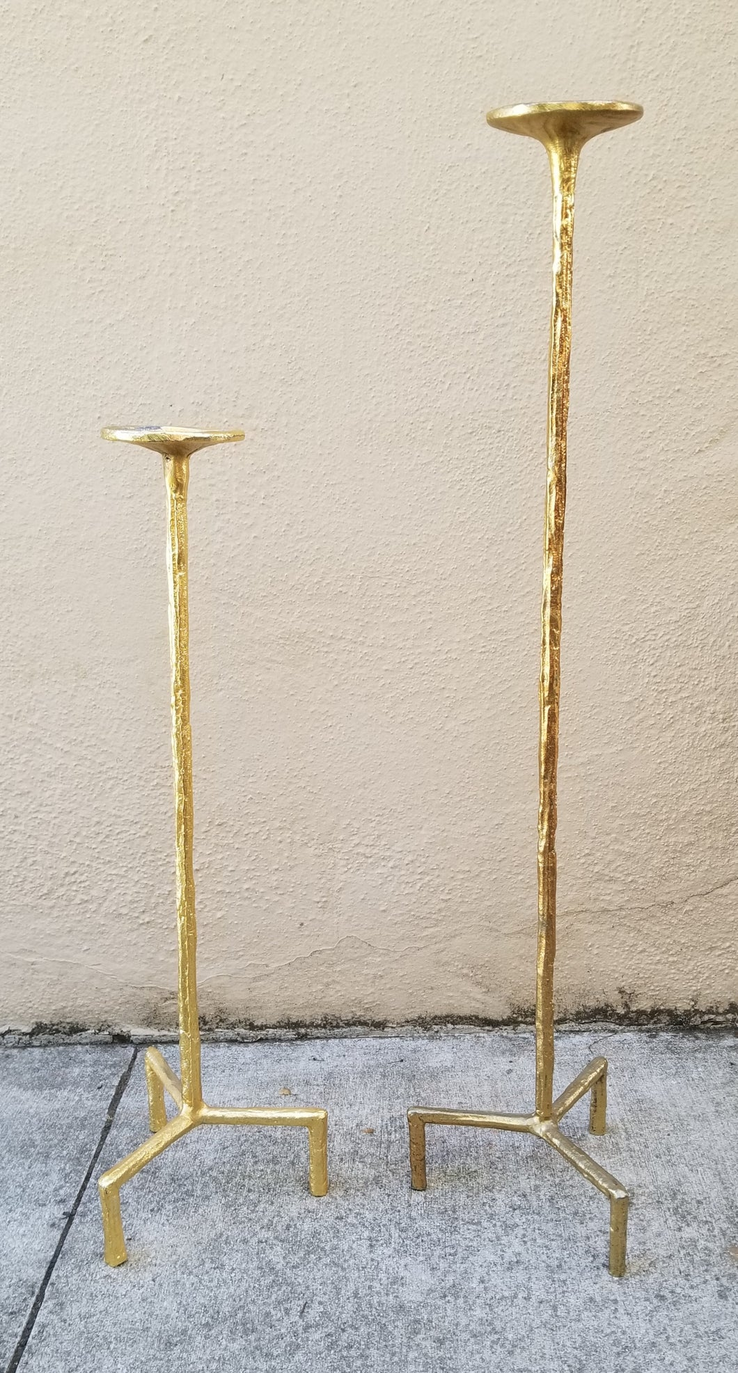Pair of Simple Glam Candlesticks