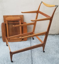 Load image into Gallery viewer, 1960s Mid-Century Modern Cesare Lacca for Casina 3-Tiered Bar Cart