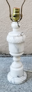 Vintage Italian Hand-Carved Marble Table Lamp