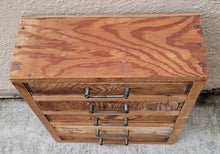 Load image into Gallery viewer, Primitive Vintage Industrial Style Petite Table Top Jewelry Chest
